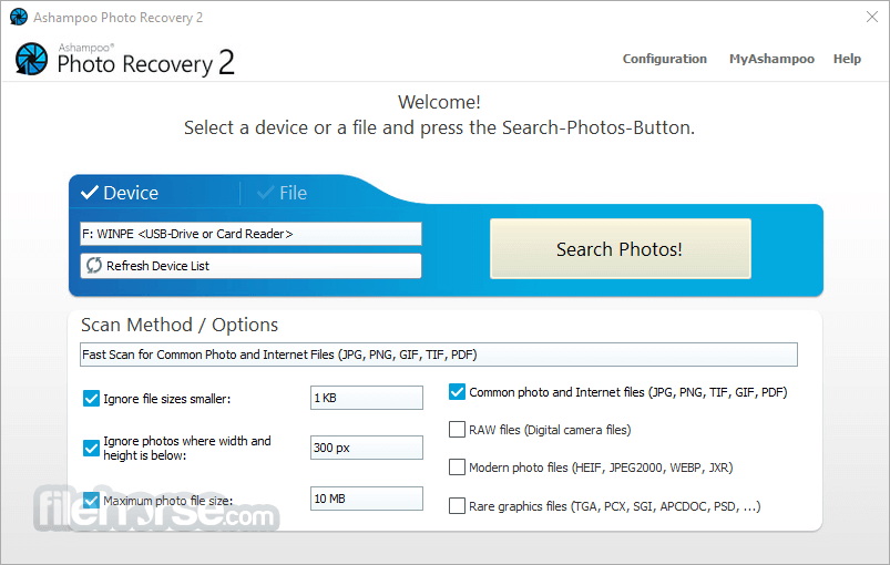 Ashampoo Photo Recovery 1.0.5 Screenshot 1
