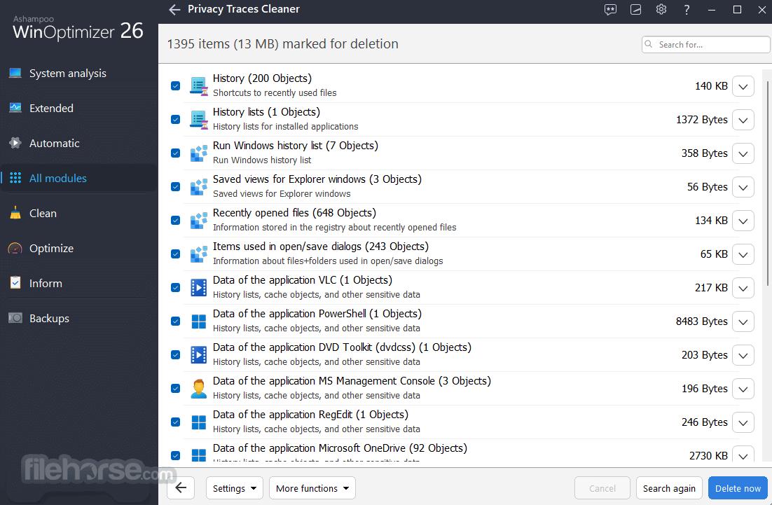 Ashampoo WinOptimizer 18.00.18 Screenshot 3