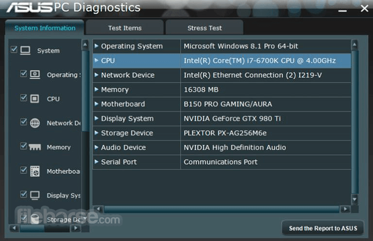 Download  ASUS PC Diagnostics for Windows free 2021