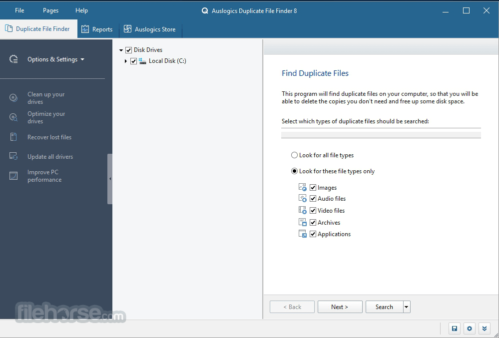 Auslogics Duplicate File Finder 7.0.1.0 Screenshot 1