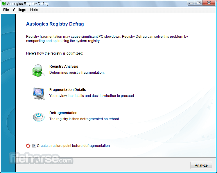 Auslogics Registry Defrag 11.0.1.0 Screenshot 1