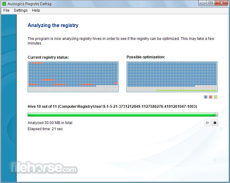 Auslogics Registry Defrag 11.0.1.0 Screenshot 2