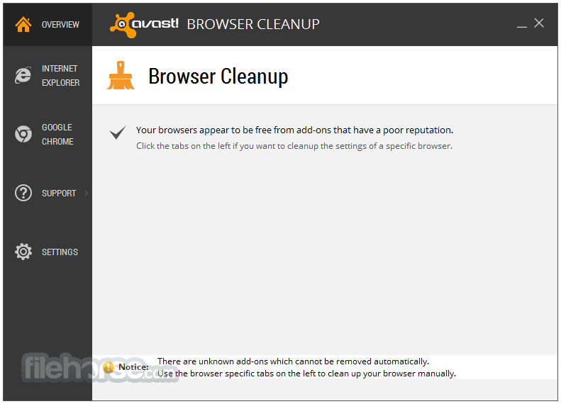 Avast Browser Cleanup 12.1.2272.125 Captura de Pantalla 1