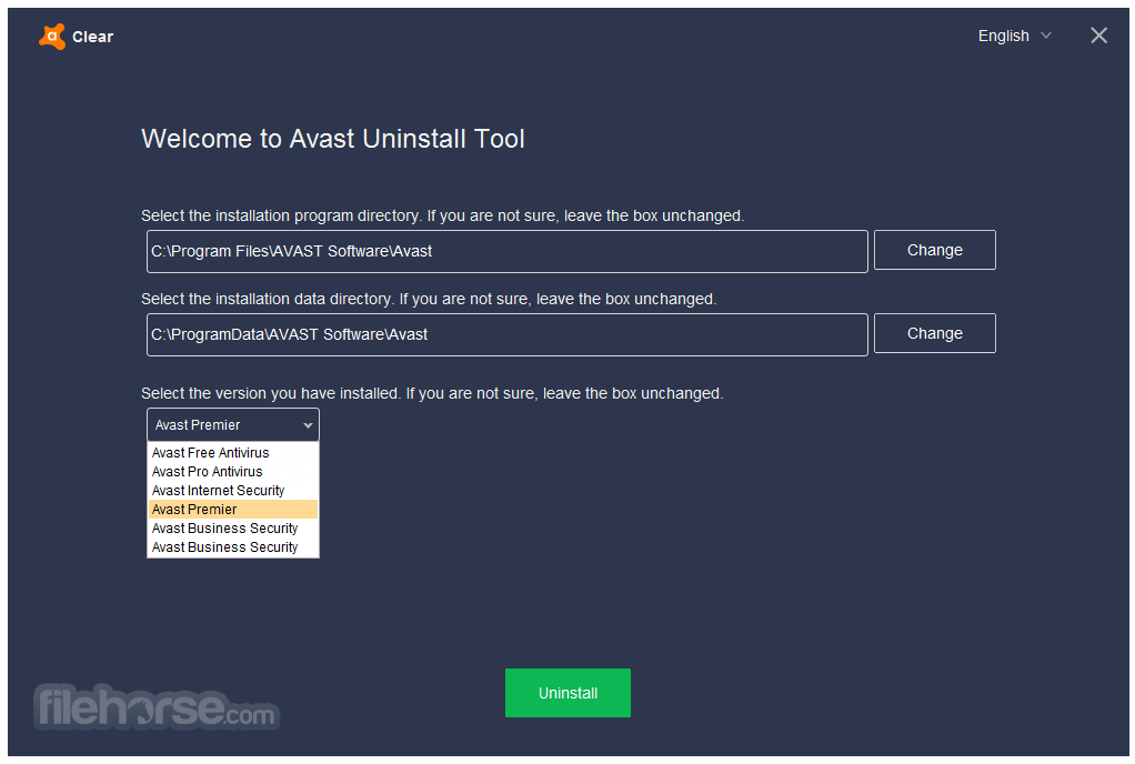 Avast Clear 17.9.3761.0 Screenshot 1
