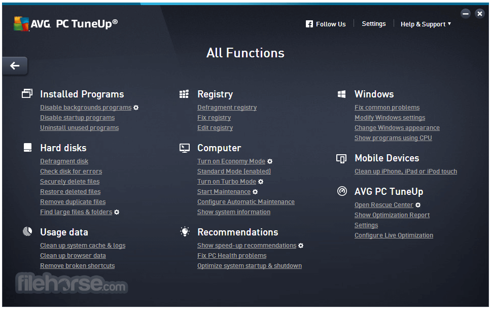 AVG PC TuneUp 16.74.2.60831 (64-bit) Captura de Pantalla 4