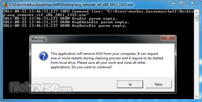 AVG Remover 1.0.1.5 Screenshot 1