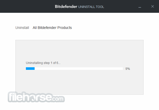 Bitdefender Uninstall Tool for 2018 Editions Screenshot 1