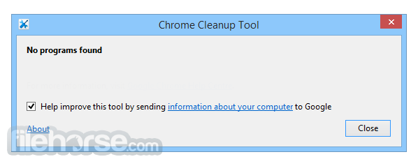 Chrome Cleanup Tool 23.131.2 Screenshot 1