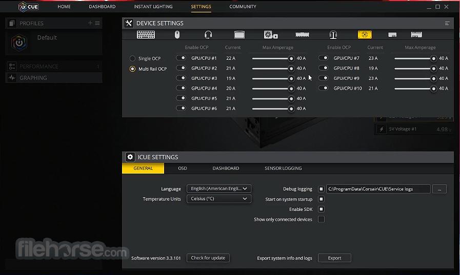 Corsair Utility Engine - iCUE 3.33.246 Screenshot 2