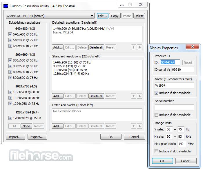 Custom Resolution Utility - CRU 1.5.1 Screenshot 2