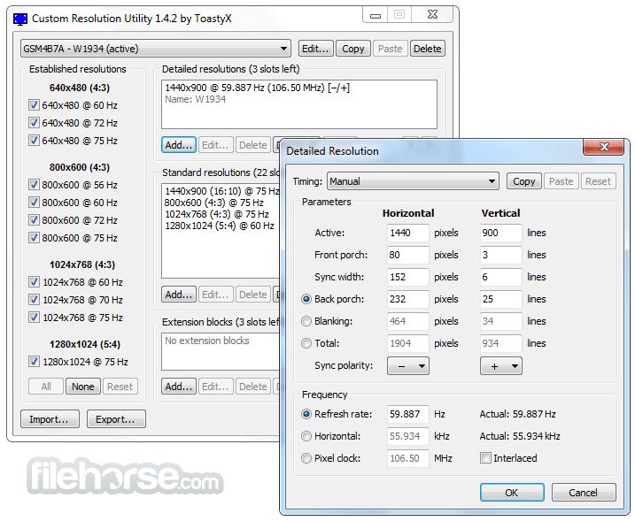 Custom Resolution Utility - CRU 1.5.1 Screenshot 3