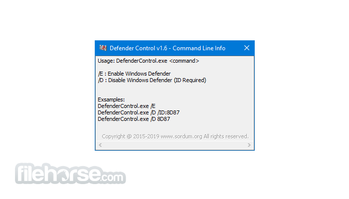 Defender Control 1.8 Screenshot 4