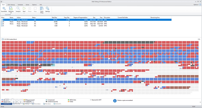 O&O Defrag Professional 21.0 (64-bit) Captura de Pantalla 1
