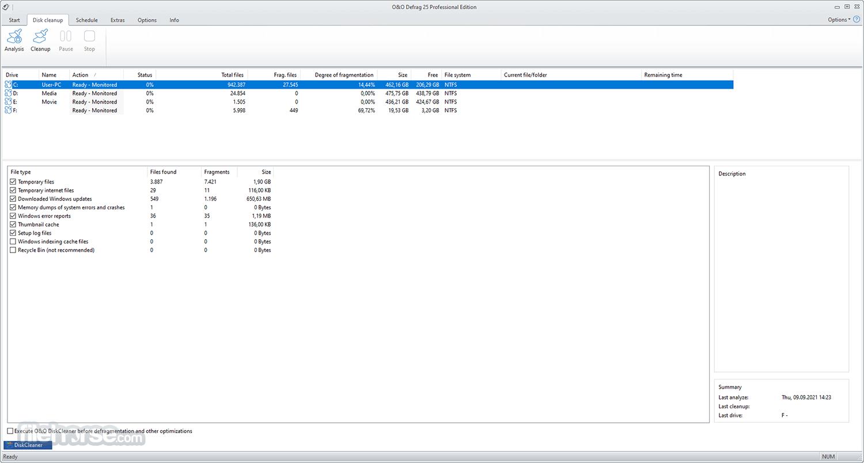 O&O Defrag Professional 21.0 (64-bit) Captura de Pantalla 2