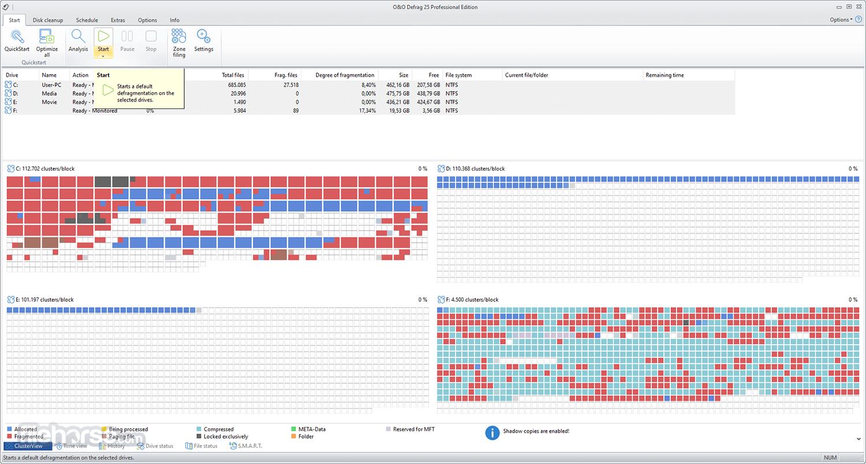 O&O Defrag Professional 21.0 (64-bit) Captura de Pantalla 4