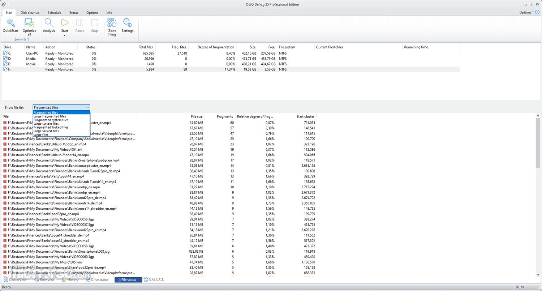 O&O Defrag Professional 21.0 (64-bit) Captura de Pantalla 5