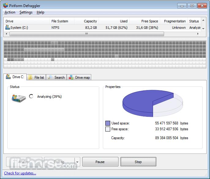 Defraggler 2.21.993 Screenshot 1
