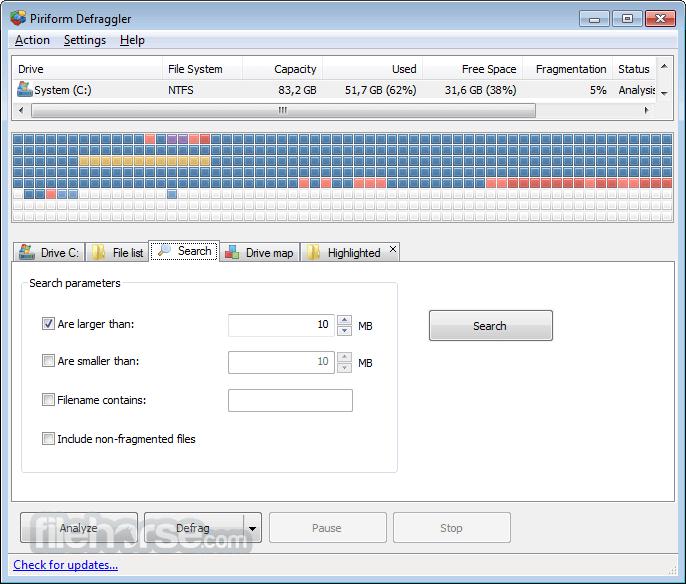 Defraggler 2.21.993 Screenshot 4