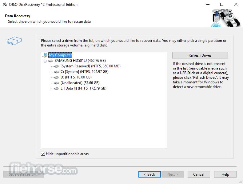 O&O DiskRecovery Professional 12.0.63 (32-bit) Captura de Pantalla 5