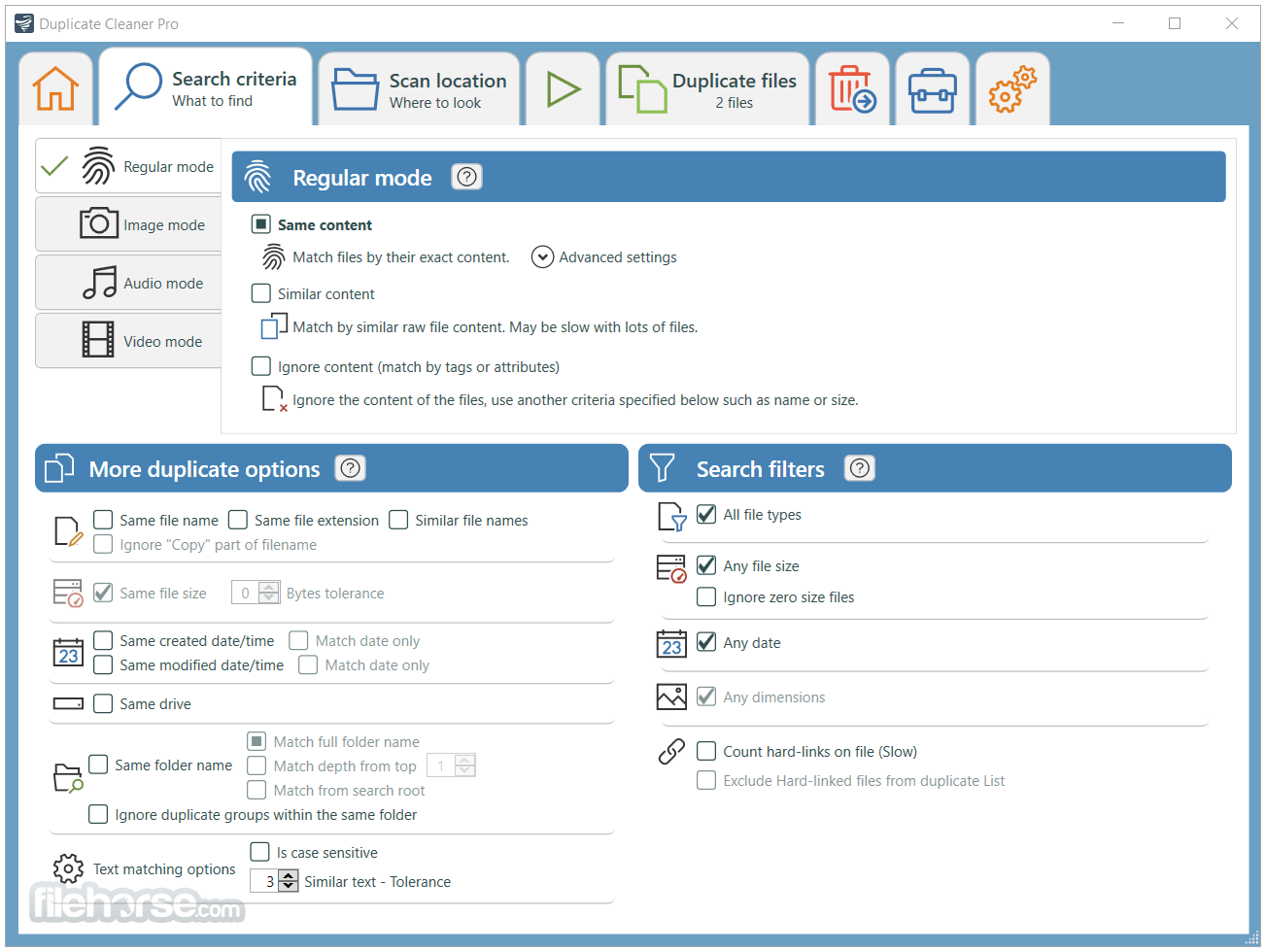 Duplicate Cleaner Free 4.1.0 Screenshot 2