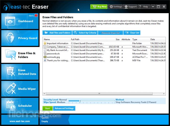 east-tec Eraser 13.3 Captura de Pantalla 3