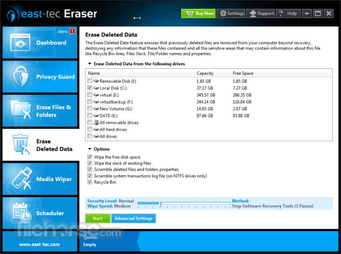 east-tec Eraser 13.3 Captura de Pantalla 4