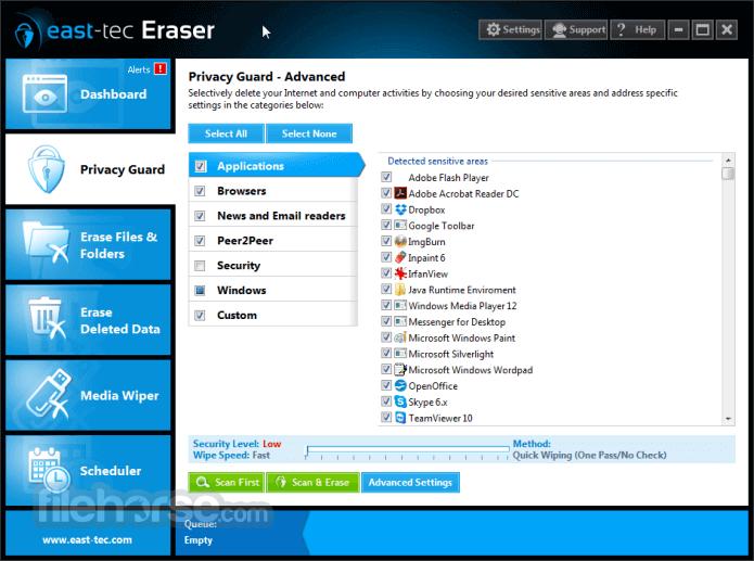 east-tec Eraser 13.3 Captura de Pantalla 5