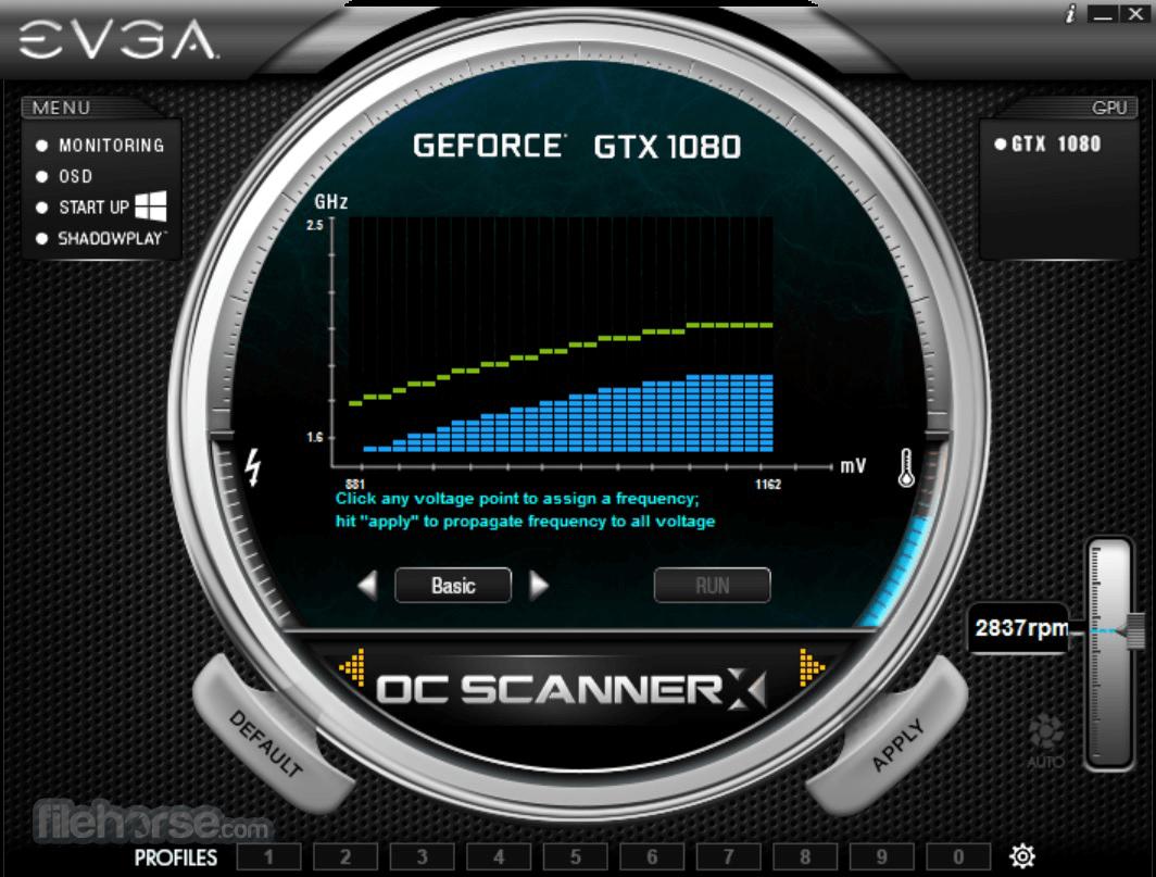 EVGA Precision XOC 6.2.7 Captura de Pantalla 1