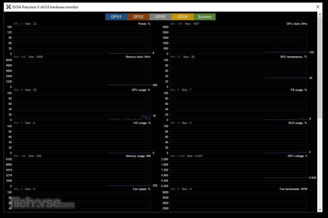 EVGA Precision XOC 6.2.7 Captura de Pantalla 4