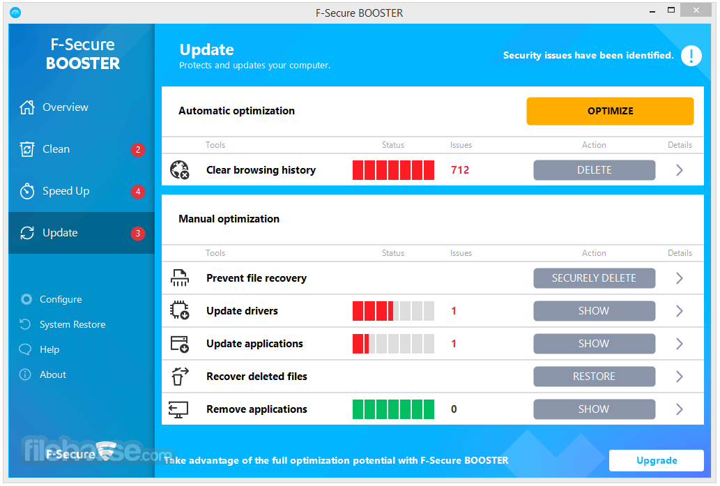 F-Secure Booster 2.4.4.102 Screenshot 3