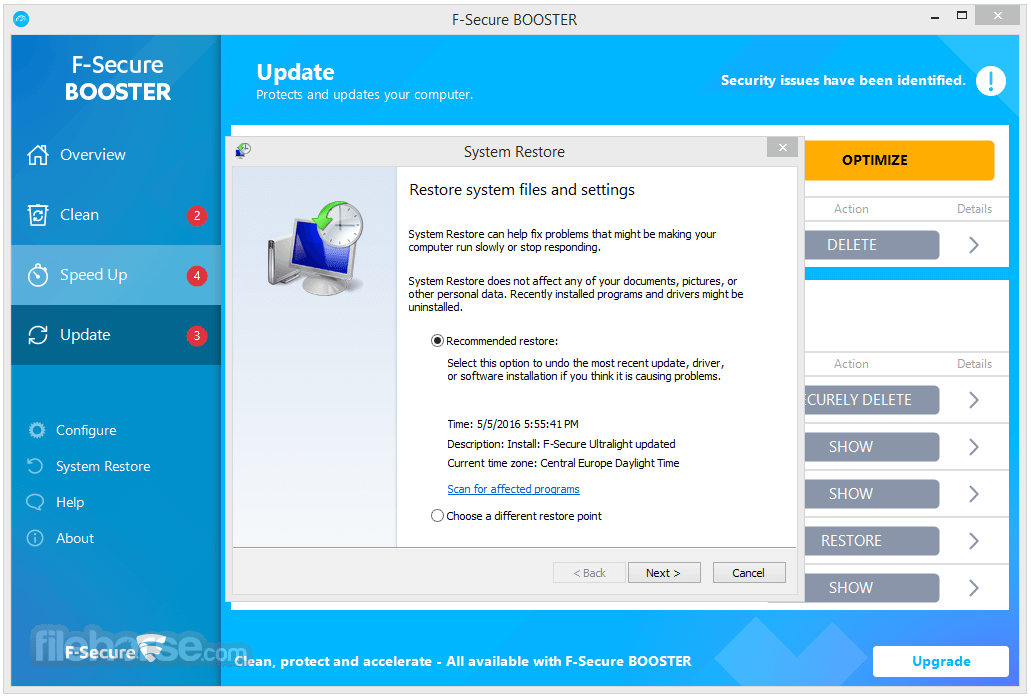 F-Secure Booster 2.4.4.102 Screenshot 5