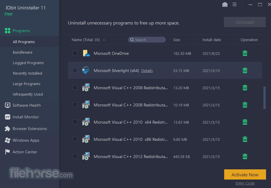 IObit Uninstaller 7.0.2.49 Screenshot 1