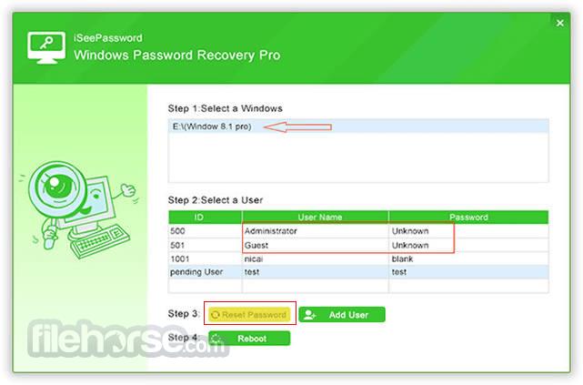 iSeePassword Windows Password Recovery 2.6.2.2 Captura de Pantalla 3