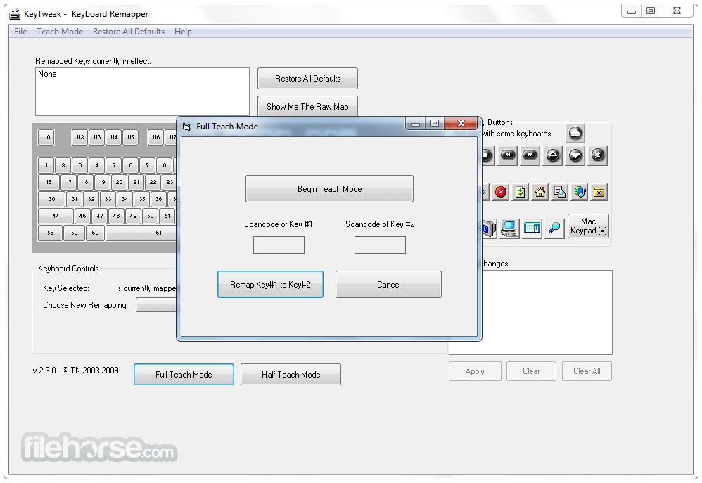 KeyTweak 2.3.0 Screenshot 2