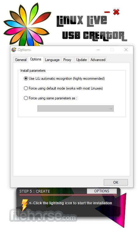 LinuxLive USB Creator 2.9.4 Captura de Pantalla 3