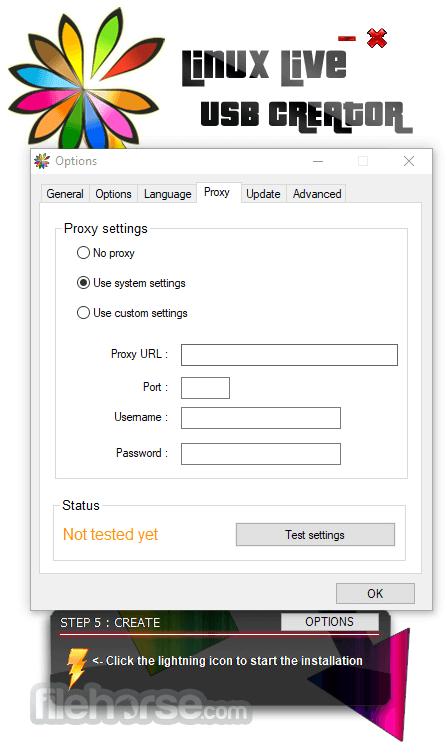 LinuxLive USB Creator 2.9.4 Captura de Pantalla 4