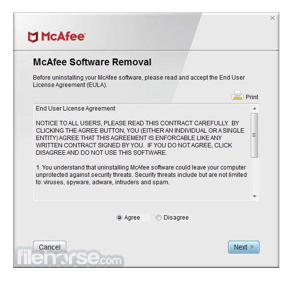 McAfee Removal Tool - McAfee Uninstaller