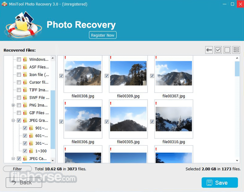 MiniTool Photo Recovery 3.0 Screenshot 3