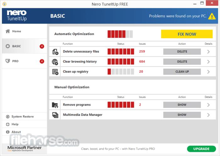 Nero TuneItUp Free 2.5.0.55 Screenshot 3