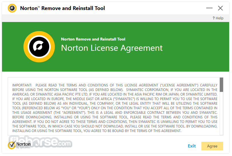 Norton Removal and Reinstall Tool 4.4.0.71 Screenshot 1