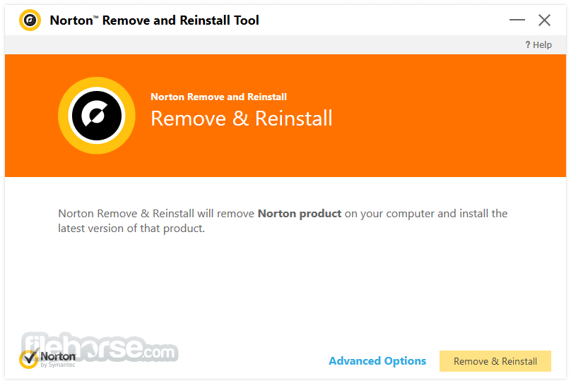 Norton Removal and Reinstall Tool 4.5.0.104 Captura de Pantalla 2