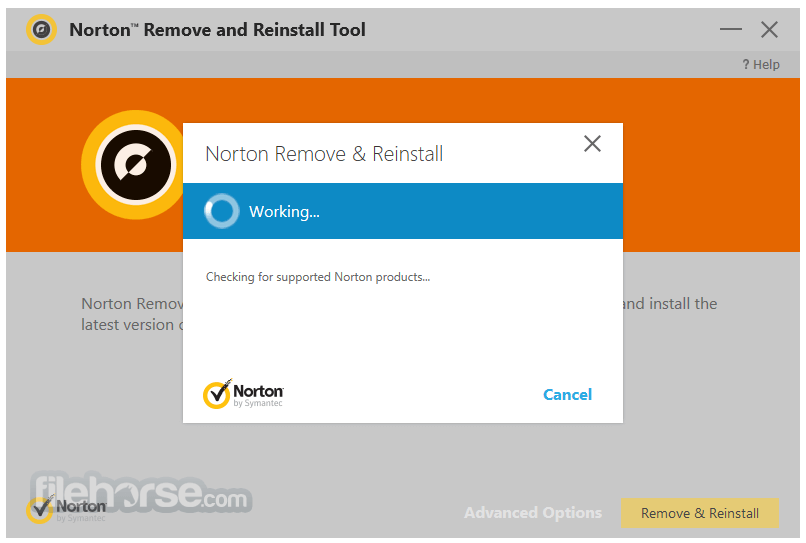 Norton Removal and Reinstall Tool 4.5.0.104 Captura de Pantalla 4