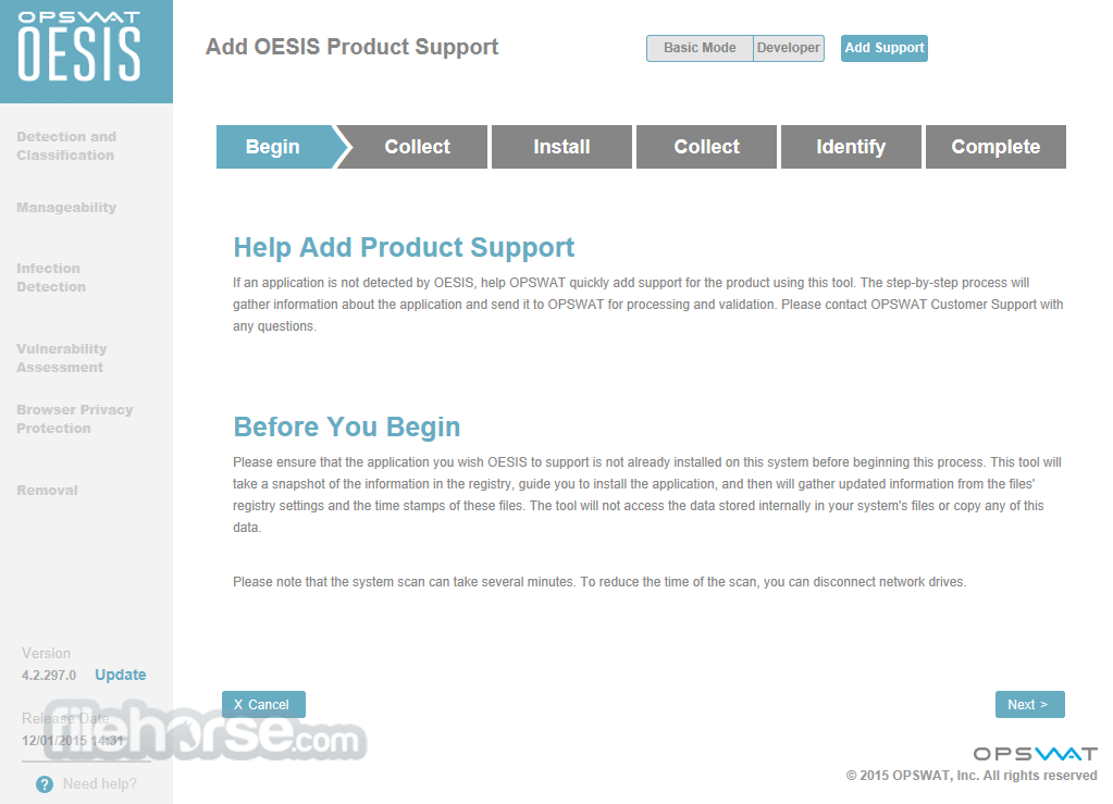 OESIS Endpoint Assessment Tool 4.2.1263.0 Screenshot 1