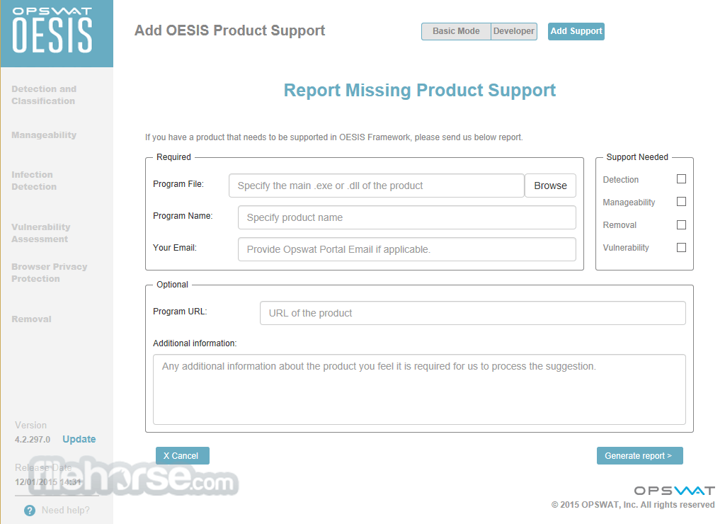OESIS Endpoint Assessment Tool 4.2.1263.0 Screenshot 2