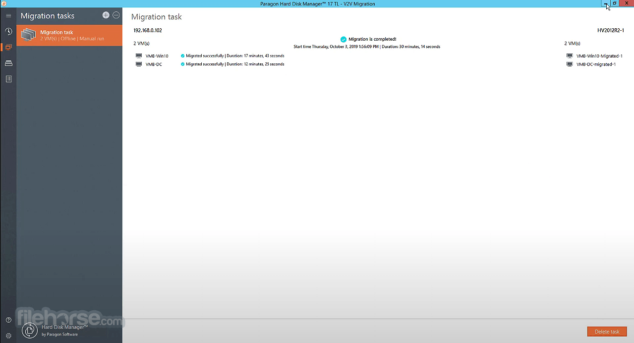 Paragon Hard Disk Manager Professional 16.18.1 (64-bit) Screenshot 5