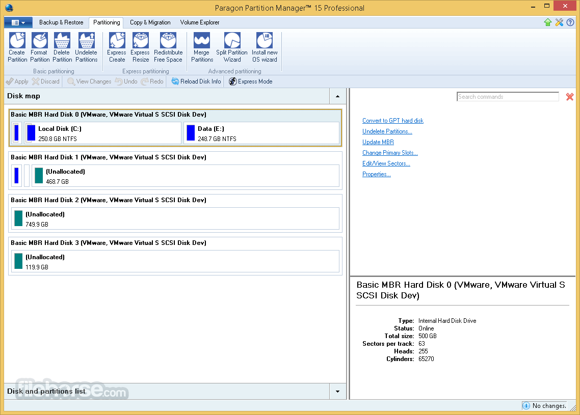 Paragon Partition Manager Professional 15 (32-bit) Captura de Pantalla 2