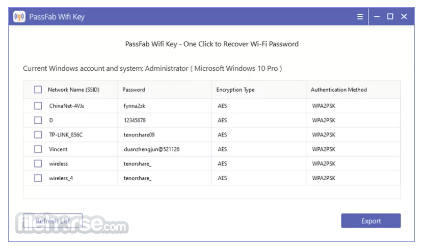 PassFab Wifi Key 1.0.0 Screenshot 1