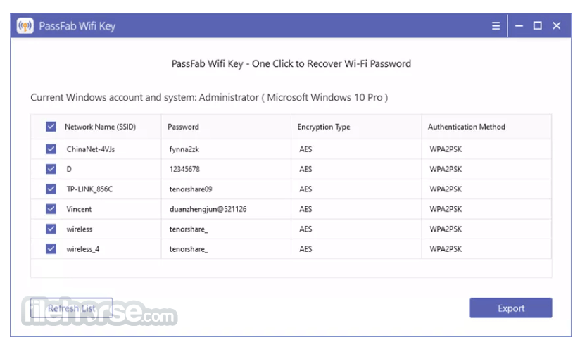 PassFab Wifi Key 1.0.0 Screenshot 2