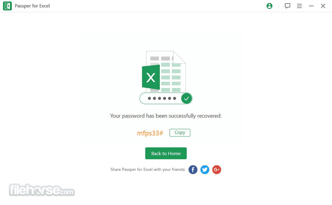 Passper for Excel 3.6.1 Captura de Pantalla 1