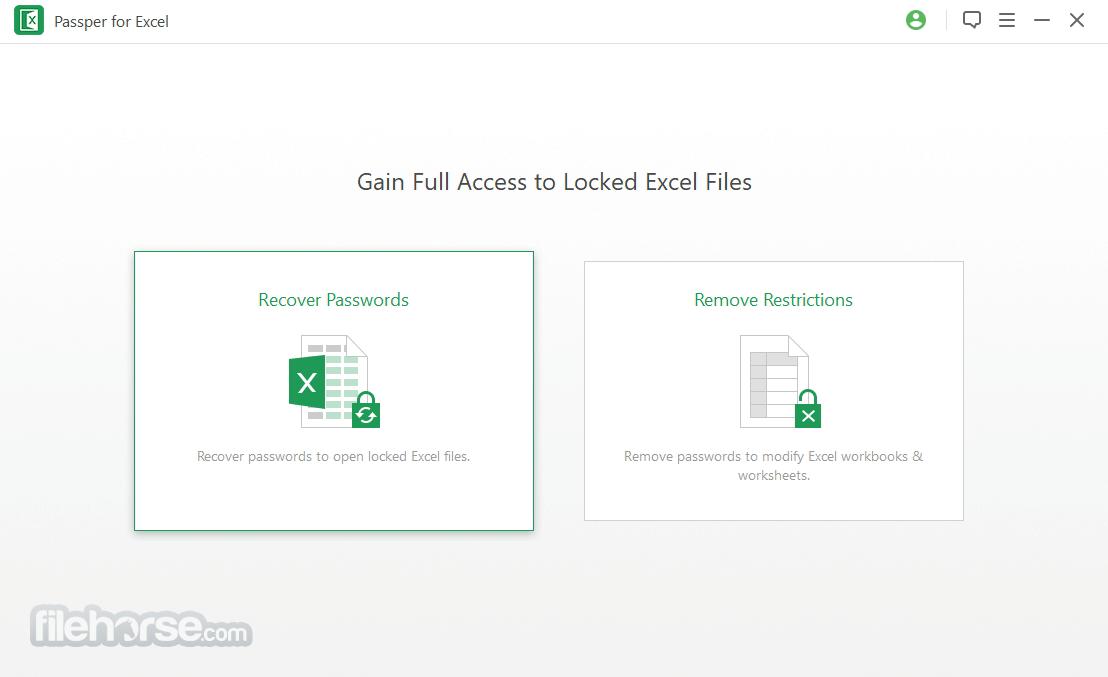 Passper for Excel 3.6.1 Captura de Pantalla 3